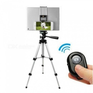 Cwxuan Retractable Tripod Mount Holder with Bluetooth Control for IPHONE Android Smartphone Tablet I USA