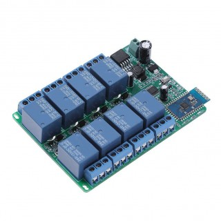 DC 12V 8 Channel Android Phone Bluetooth Control Relay Module for LED Light