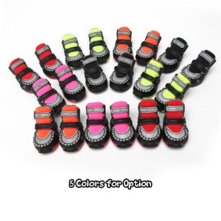 DJJ DS303SA Cool Colorful Pet Dog Shoes Spring and Autumn Style Dog Sports Shoes Leisure Shoes for P