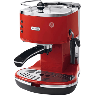 DeLonghi ECO310 Icona Manual Espresso Machine (Red) - ECO310R