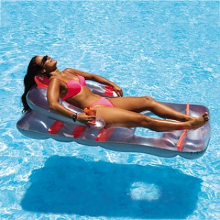 Deluxe Folding Chair Inflatable Pool Float