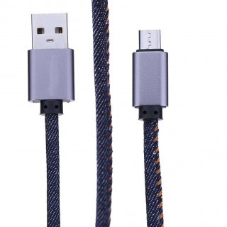 Denim 2.4A USB Data Sync Fast Charging Charger Cable Cord for Android Phone