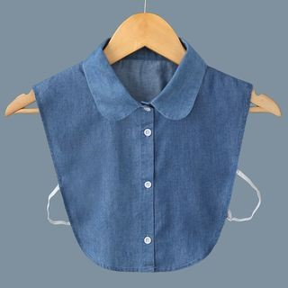 Denim Decorative Collar B111 - Round Neck - Denim Blue - One Size