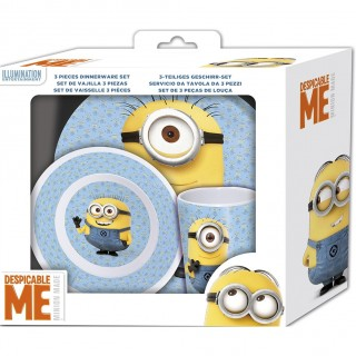Despicable Me - The Minions 3-Piece Dinnerware Set