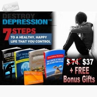 Destroy Depression in 7 Steps + Bonus Support Adelaide