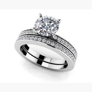 Diamond Channel Band Bridal Set