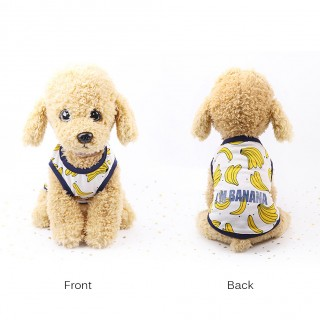 Dog Cartoon Fruit Clothes Couple Pet Dress Skirt Vest Summer Puppy Cat Clothes M