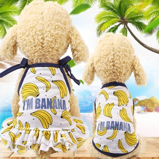 Dog Cartoon Fruit Clothes Couple Pet Dress Skirt Vest Summer Puppy Cat Clothes XL