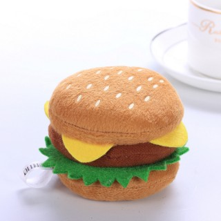 Dog Puppy Pet Chews Plush Hamburger Shaped Pet Toy with Sound