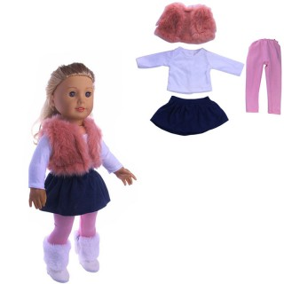 Doll Clothes Dress Outfit Clothes Set For 18'' American Girl Our Generation Doll Without Reborn Baby