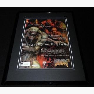 Doom 3 2004 Playstation 2 PS2 Framed 11x14 ORIGINAL Vintage Advertisement