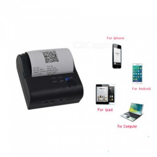 ESAMACT Portable USB 80mm Bluetooth Wireless Thermal Printer, POS Receipt Barcode Printer for iOS An