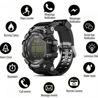 EX16 Digital Fitness SmartWatch Waterproof Pedometer Calories Calculator Outdoor Sport Smart Watch W