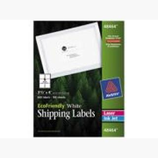 EcoFriendly Laser/Inkjet Shipping Labels 3 1/3 x 4 White 600/Pack