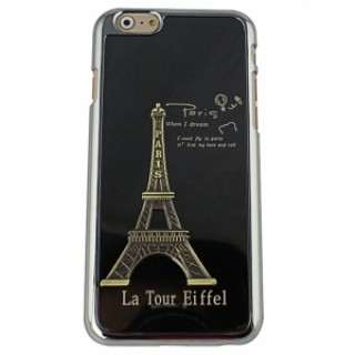 "Eiffel Tower Pattern Plastic + Aluminum Alloy Protective Case for 4.7"" iPhone 6/6S Black"