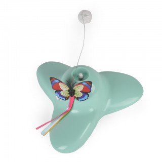 Electric Rotating Funny Butterfly Cat Teaser Toy with Replaceable Butterfly