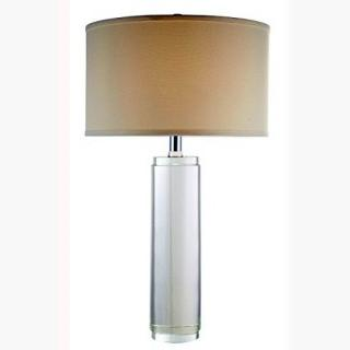 Elegant Lighting Regina Collection Table Lamp D 17 inch H 29 inch Lt 1 Chrome Finish -