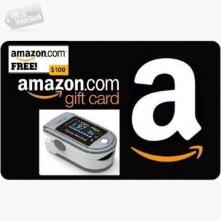 Enter for Free to Win a $100 Amazon Gift Card! and Santamedical Pulse Oximeter
