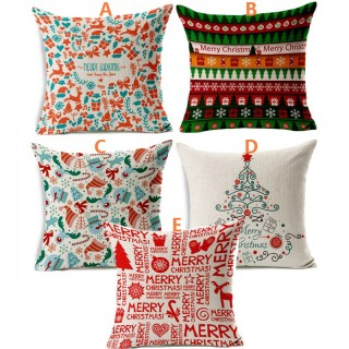 European Christmas Sofa Office Cushion Cover 5 Designs Christmas Pillow Cover Christmas Gifts USA