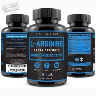 Extra Strength L Arginine 1500mg - Nitric Oxide Supplements for Stamina, Muscle, Vascularity & Energ