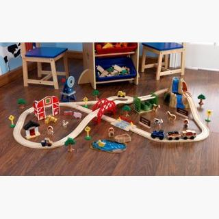 Farm Train Set - 75 Pieces