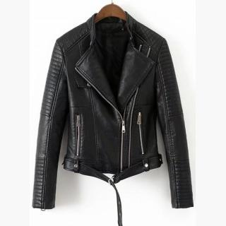 Fashion PU Slim Fit Motorcycle Jacket