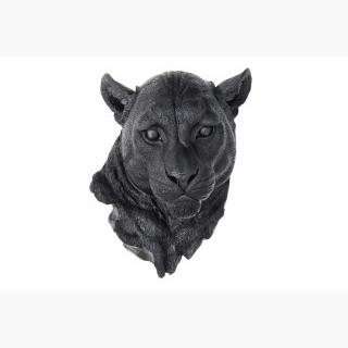 Faux Taxidermy- Black Mountain Lion - Wall Mount - Panther Mount Ml17