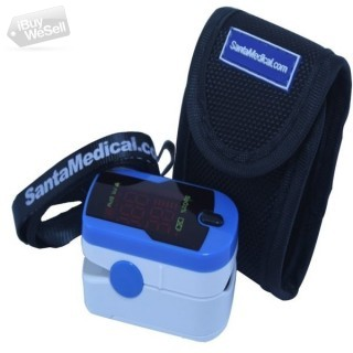 Finger Pulse Oximeter Sportstone Blue