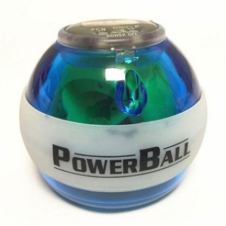Fitness Body Building Odometer Booster Power LED Wrist Ball Grip Round Ball Blue USA