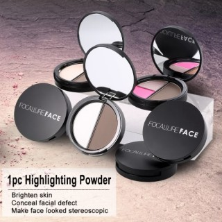 Focallure 1pc Makeup Contour Woman Concealer Powder Professional Highlighting Palette Face Cosmetic