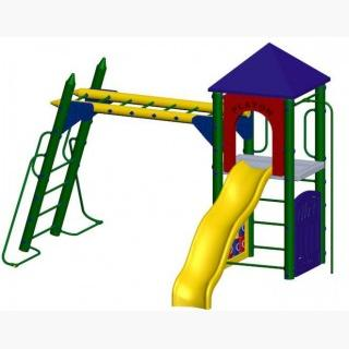 Fort Columbus Playground 5 Foot Deck Height