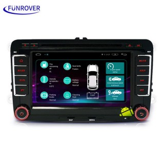 "Funrover LST001 7"" HD Android Car DVD Player for SEAT - Black"