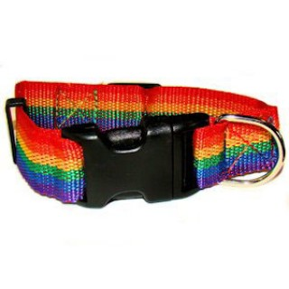 Gay Pride Rainbow Pet Collar (Dogs / Cats) - LGBT Gay and Censored Pride Pet Accessories