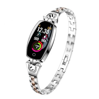 H8 Women Smart Bracelet Fitness Watch with Blood Pressure Heart Rate Monitor