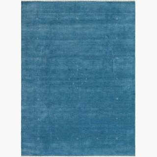 "Hand-knotted Kashkuli Gabbeh Light Denim Blue Wool Rug 9'1"" x 12'2"""