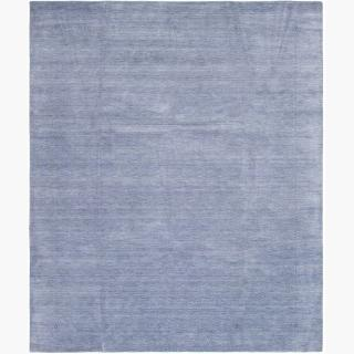 "Hand-knotted Kashkuli Gabbeh Light Denim Blue Wool Rug 9'3"" x 11'2"""