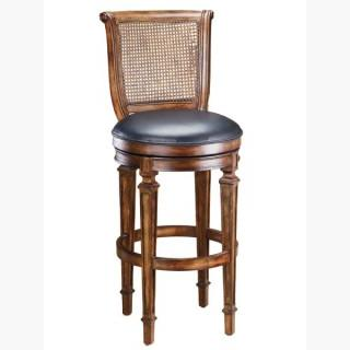 Hillsdale 61908 Dalton Cane Back Counter Stool With Leather Seat