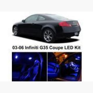 Infiniti G35 Coupe 2003-2006 Blue Premium LED Interior Lights Package Kit (7 Pieces)