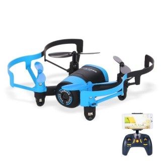 JXD 512W 2.4G RC Quadcopter 0.3MP Camera Selfie Drone - Blue