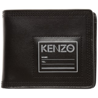 Kenzo Wallet for Men, Black, Leather, 2017