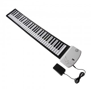 Kids Musical Instruments 61 Keys Roll Up Electronic Keyboard Piano