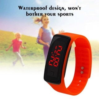 Kids Sport Electronic LED Bracelet Silicone Smart Watch Children Wrist Digital Watches UK