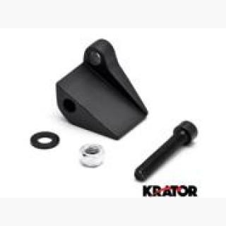 Krator Black Right Motorcycle Mirror Relocation Adapter For Harley Electra Glide Ultra Classic Polic