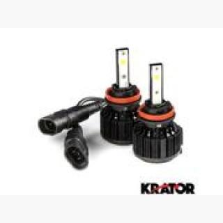 Krator LED H11 Headlight Conversion Bulbs 40W 4000LM Light Bulb Xtra Bright 6000K White with Built-I