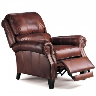Lane Furniture FastLane Furniture Hogan Hi-Leg Leather Recliner in Chocolate Tri-Tone