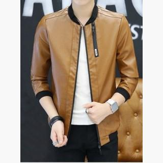 Leather Clothes Jacket Long sleeved Men Jacket Boys Spring And Autumn Youth Handsome  Autumn Clothes