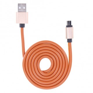 Leather USB Cable Fast Charging 2A Leather Data Cable for Android
