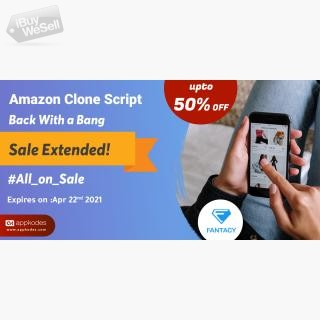 Limited Period Offer - Grab the deal of up to 50% offer for Amazon clone