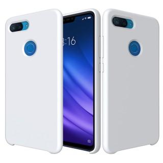 Liquid Silicone Accessory Shell for Xiaomi Mi 8 Lite / Xiaomi Mi 8 Youth (Mi 8X) - White