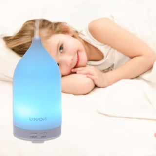 Lixada UL Certification Ultrasonic Aroma Diffuser 100ml Air Humidifier LED Night Light Color Changin